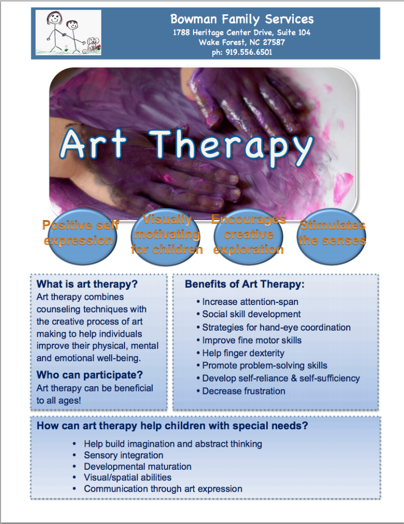 an overview of group art therapy and its benefits Who had discovered the therapeutic benefits of drawing and painting while recovering from tuberculosis  naumberg's model of art therapy based its methods on,.
